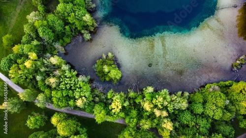 Obraz na plátně Wasser, See, Übergang Land Wasser