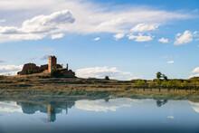 Vista Del Castillo De Pradas, Cerca De La Población De San Agustín, En La Provincia De Teruel. Aragón. España. Europa