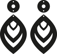 Earrings Jewelry Template Svg Vector Cut File For Cricut And Silhouette