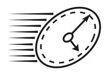 Icono De Reloj Puntual Negro.