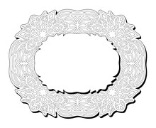Clip Art For Coloring Book Eastern Frame