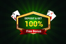 Sigh Up Bonus Casino Banner, First Deposit Bonus, Register Now Bonus