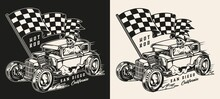 Hot Rod Vintage Monochrome Print