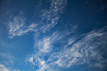 Delicate Wispy Clouds On A Blue Sky. Sky Replacement Resource