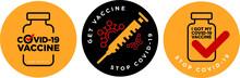 Stop Covid-19 Vaccine Signage Icon