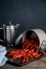 Crawfish In A Pot