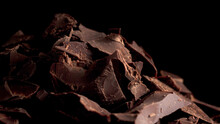 Pieces Of Dark Bitter Chocolate