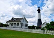 Historic Tybee Island, Georgia Lighthouse Background Landscape.
