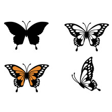 Butterfly Icon. Set Of Butterfly. Butterflies Sign.