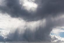 White Sunlight Shining Through Grey Clouds.Shot In Sweden, Scandinavia