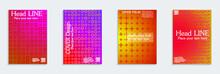 Fluid Color Covers Set. Eps10 Vector.