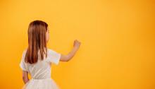 Girl Isolated On Yellow Background