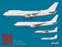 Big Airliner Corporate Set. All Types Of Aircraft