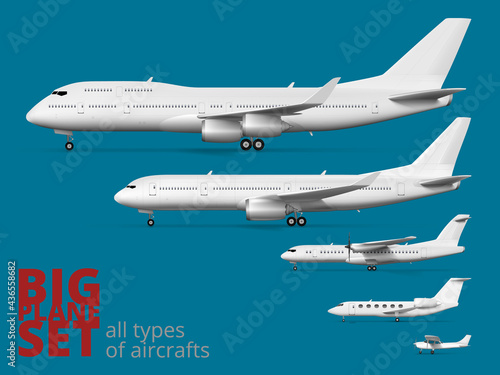 Tela Big Airliner Corporate Set. All Types Of Aircraft