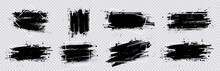 Collection Paint Compositions Grunge With Frame For Texting Boxes. Dirty Texture Elements, Quote Box Speech Template. Black Splashes Isolated. Paint Grunge For Posters, Flyers, Cards, Banners. Vector