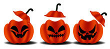 Halloween Pumpkin Isolated On White Background. Perfect For Decoration, Greeting Cards, Events, Brochures And Posters.