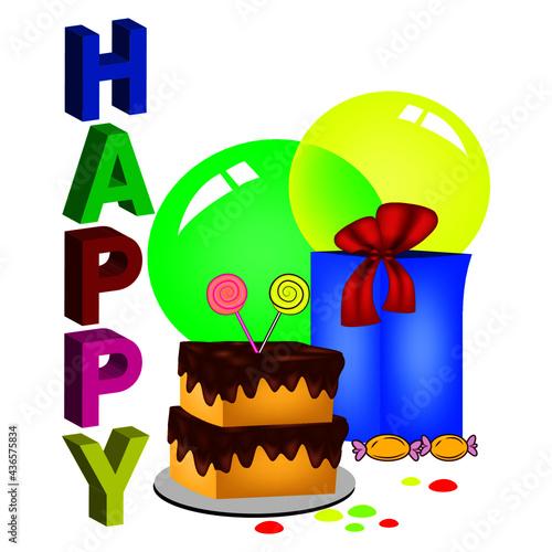 Slika na platnu Happy Birthday