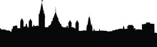 Ottawa Parliment Hill City Silhouette In High Resolution