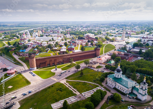 Fotomural Picturesque view from height of the Kolomna Kremlin