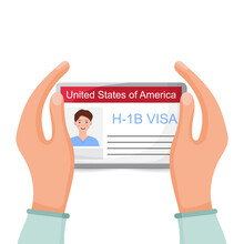 H1b Visa USA Background, Temporary Work Visa For Foreign Skilled Workers In Specialty Occupation. Business Vector Illustration