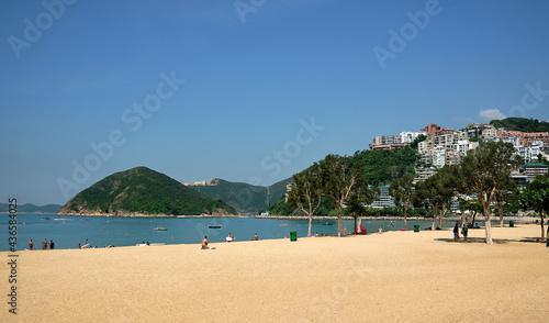 Fotografie, Obraz Repulse Bay Beach most popular beach in Hong Kong.