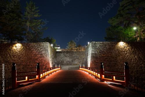 Canvas 夜の鶴ヶ城廊下橋