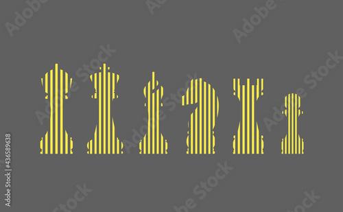 Obraz na płótnie Vector illustration of chess pieces icon set