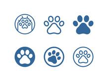 Dog, Cat Paw Vector Icon