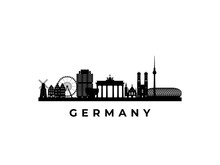 Vector Germany Skyline. Travel Germany Famous Landmarks. Business And Tourism Concept For Presentation, Banner, Web Site.