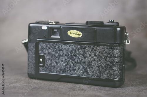 Fotografía backside of retro camera