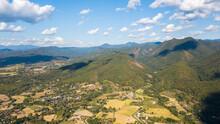 Aerial View Of Pai District Mae Hong Son Thailand.