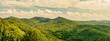 Blick vom Drachenfels auf die Wälder des Siebengebirge