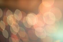 Blurred Lights Orange Background.