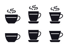 Coffee Cup Icon. Vector Illustration Isolated On White Background