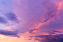 Dramatic Pink And Purple Clouds During A Summer Sunset, Montreal, Quebec, Canada