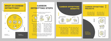 Carbon Offsetting Meaning Brochure Template. Environmental Projects. Flyer, Booklet, Leaflet Print, Cover Design With Linear Icons. Vector Layouts For Presentation, Annual Reports, Advertisement Pages
