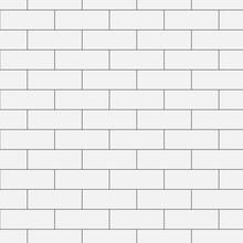 Brick White  Wall Pattern Vector Illustration