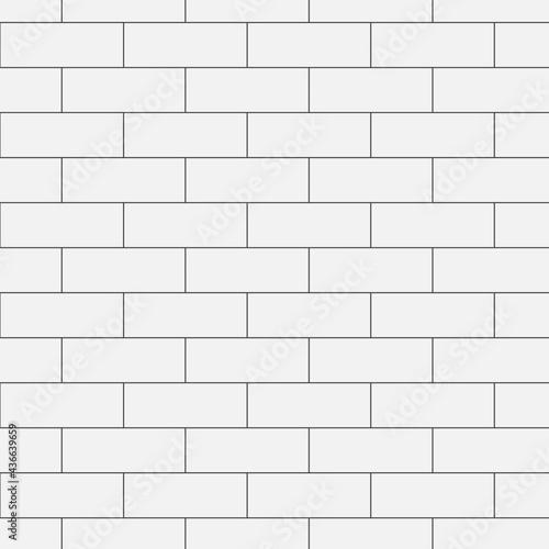 Photo Brick white  wall pattern vector illustration