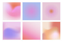 Vector Set Of Abstract Modern Gradient Backgrounds For Graphic Design, For Presentations, Social Media Posts And Posters