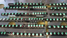 Slider Shot Of A Panel LED Light Indicators Is In The Production