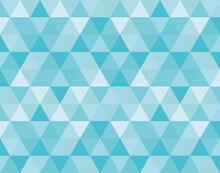 三角抽象幾何学模様グラフィック背景素材ブルー