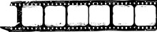Grungy Film Strip, Blank Photographic Film, Free Space For Pictures,vector,fictional Artwork