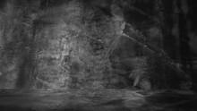 Old Black Background. Grunge Texture. Dark Wallpaper. Blackboard Chalkboard Concrete