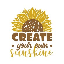 Create Your Own Sunshine Quote Lettering Illustration