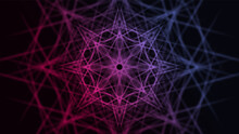 Futuristic Esoteric Ornamental Mandala Design. Abstract Psychedelic Geometric Colorful Flower. Vector Illustration EPS10.