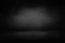 Abstract Dark Black And Gray Empty Room Studio Backdrop Wallpaper Inside Room Wall Light Black And Empty Space And Gradient Spotlight Floor Texture Background.