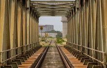 A Rusty Old Railway Bridge Oristano City