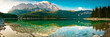 Leinwandbild Motiv Eibsee Panorama mit Zugspitze - Berge und See in den Alpen