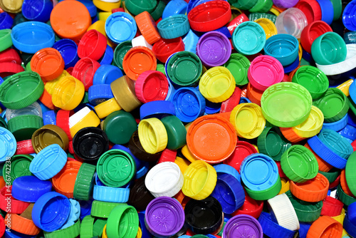 Stampa su Tela Plastic bottle caps for recycling