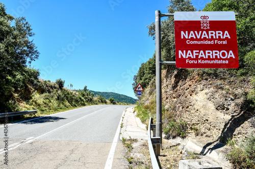 European Border between navarra and aragon zaragoza spain in the pyrenees mounta фототапет